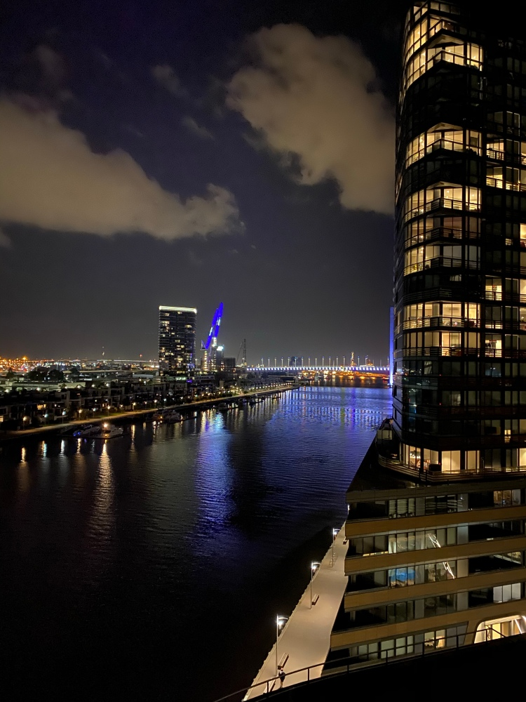 The view of the Yarra River from the balcony