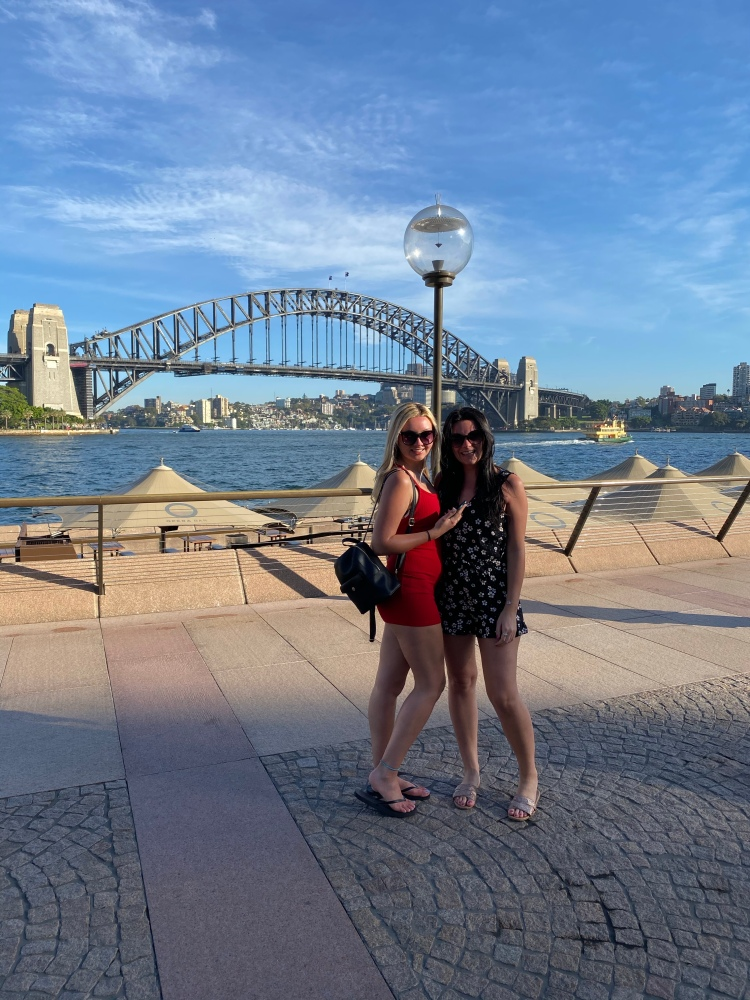 With my Sis at the Sydney Harbour