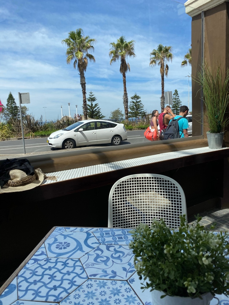 Our table with a view of Bondi