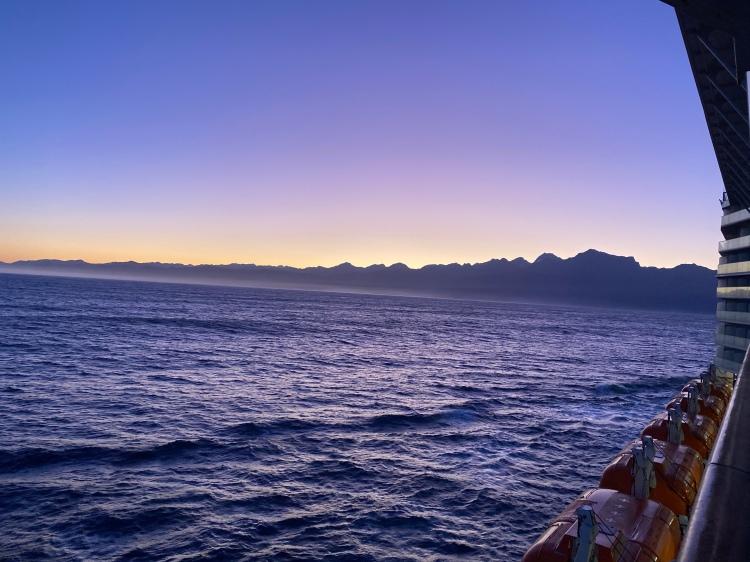 Sailing into Milford at Sunrise