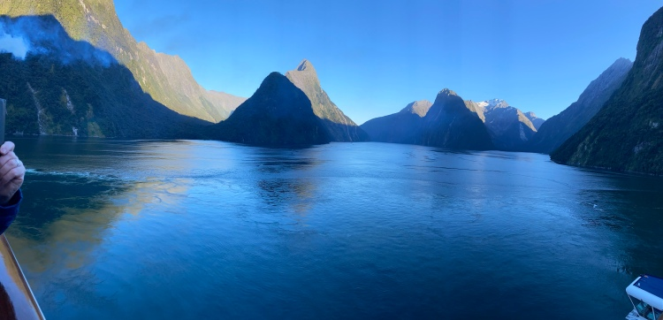 The calmness of Milford Sound