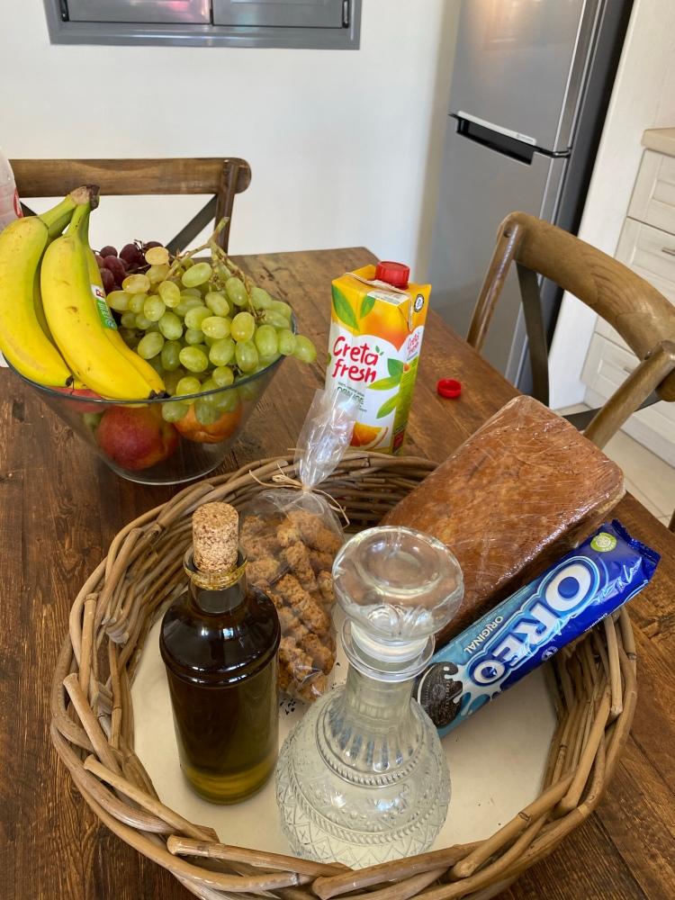 Our Cretan welcome basket