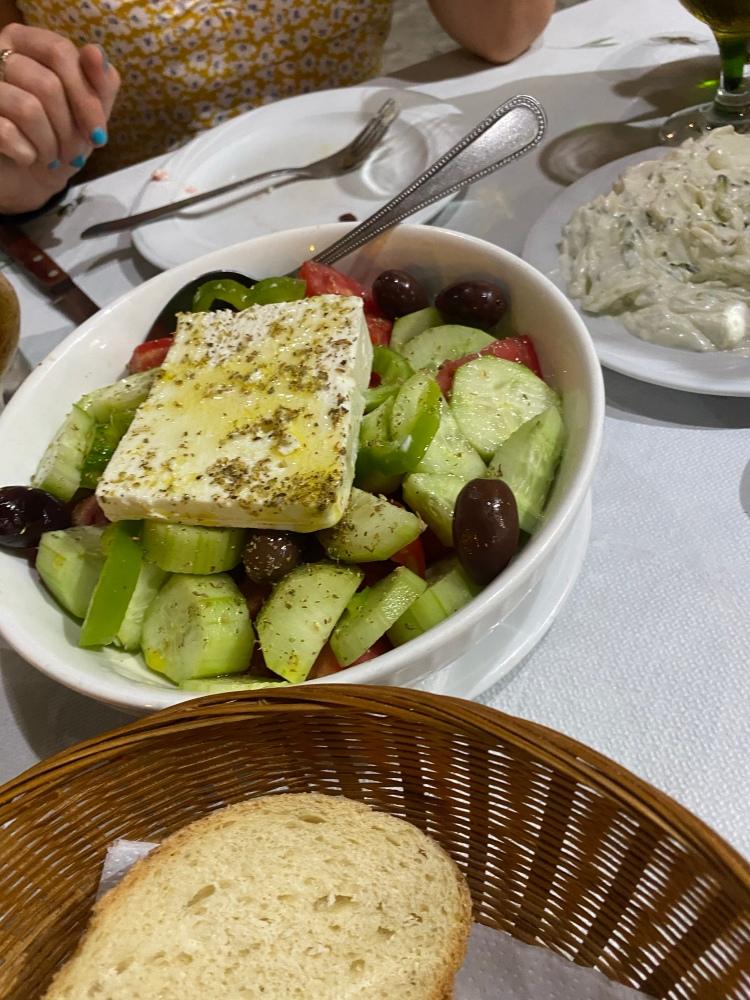 Greek salad at George and Georgia