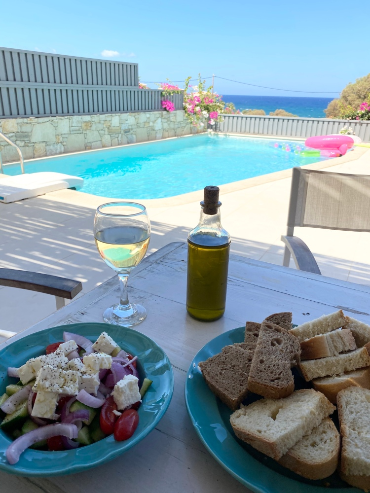 Our lunch at the villa