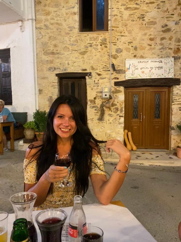 Drinking wine in the street