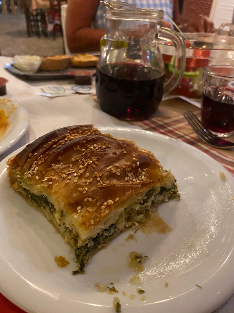 The courgette and cheese pie